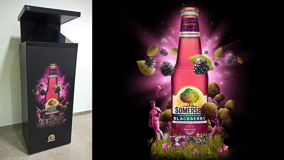 somersby hologramski display
