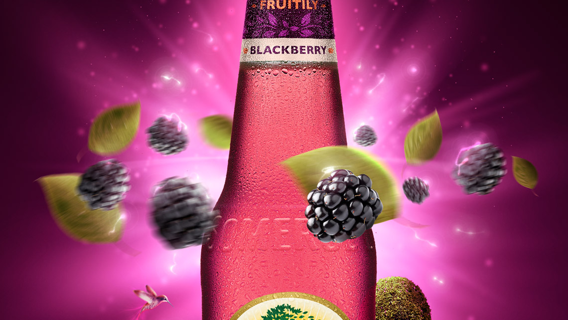 somersby blackberry detail bottle